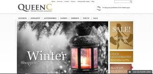 Deel 1 van de huidige homepage van www.queenc.nl