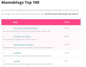 Beste mamablogs, mamablogger, top 3