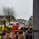 Rellen tijdens intocht Sinterklaas in Gouda