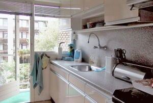 Keuken met balkon