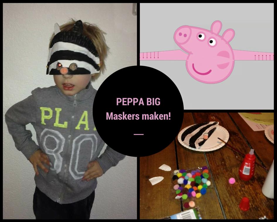 How to| Peppa Big carnavalsmaskers (met gratis doevellen!)
