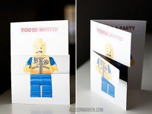 LEGO, uitnodiging, gratis, printables