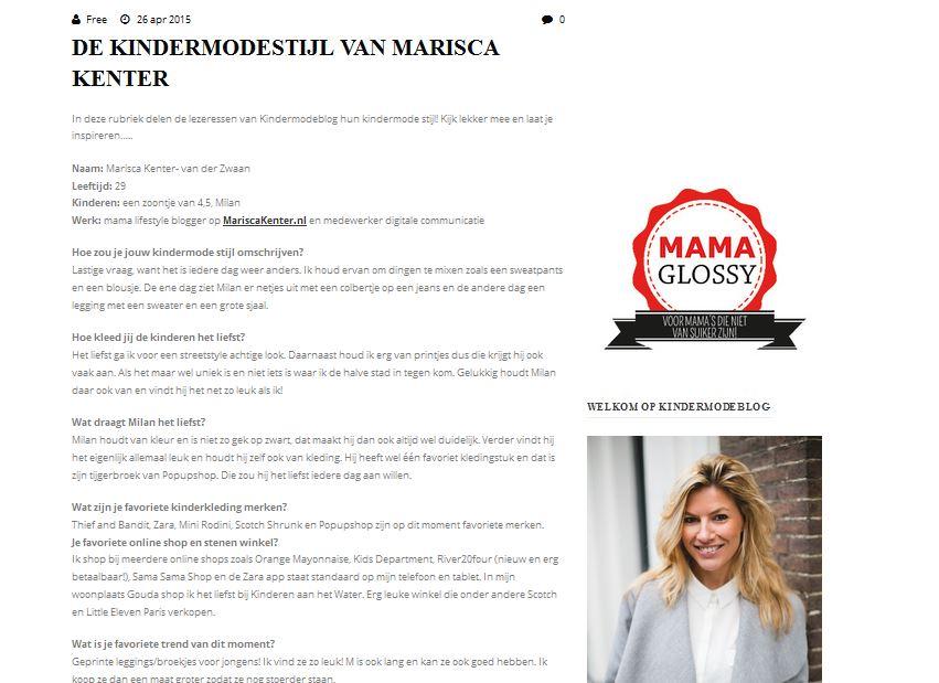 Kindermodeblog, interview, mama blogger, mamablogger, Marisca, Kenter, kindermodestijl
