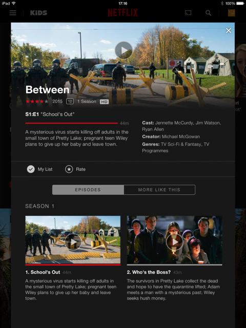 Nieuwe Netflix verslaving: Between!