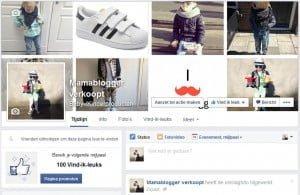 Facebook pagina, mamablogger verkoopt, kinderkleding