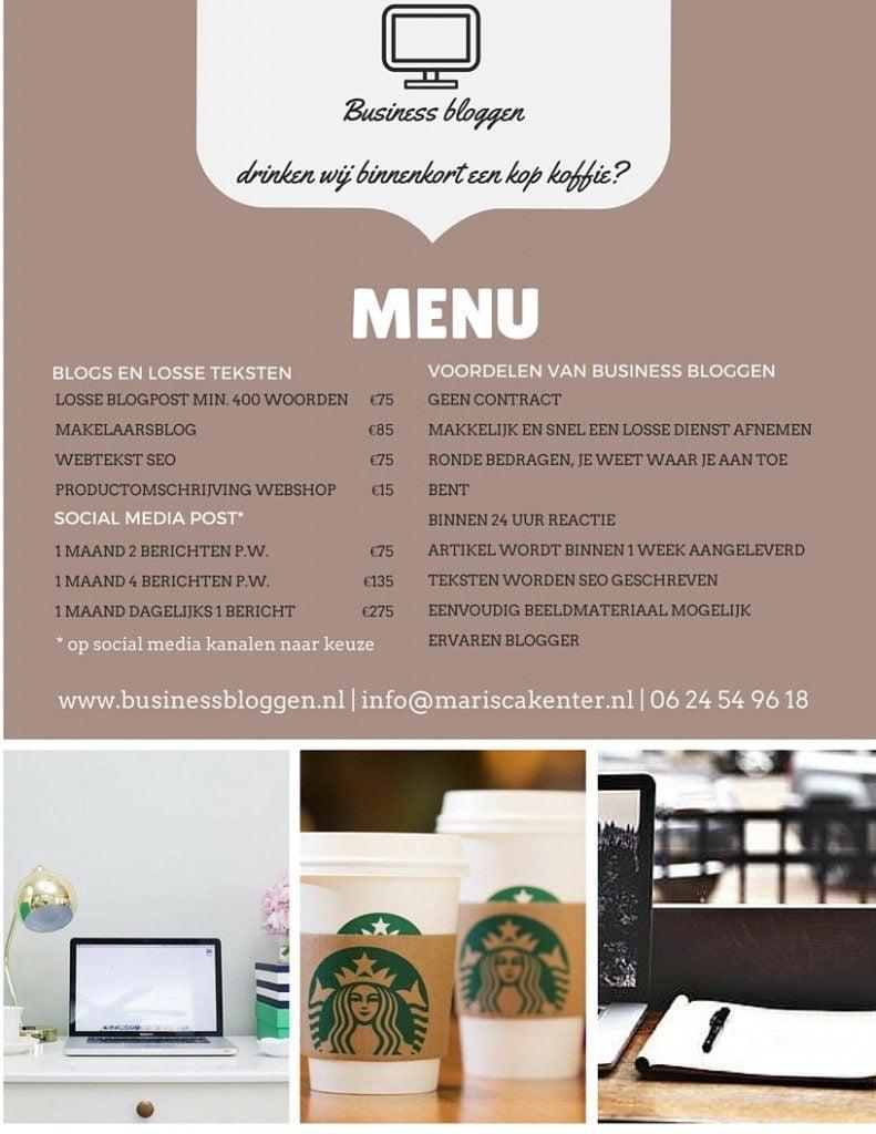 Business bloggen_menukaart_mamablogger_freelance_tekstschrijver_marisca_kenter_