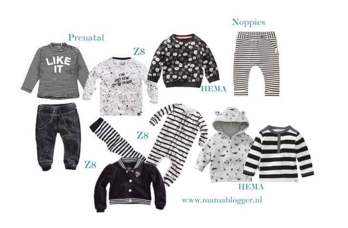 Zwart/witte babykleding!