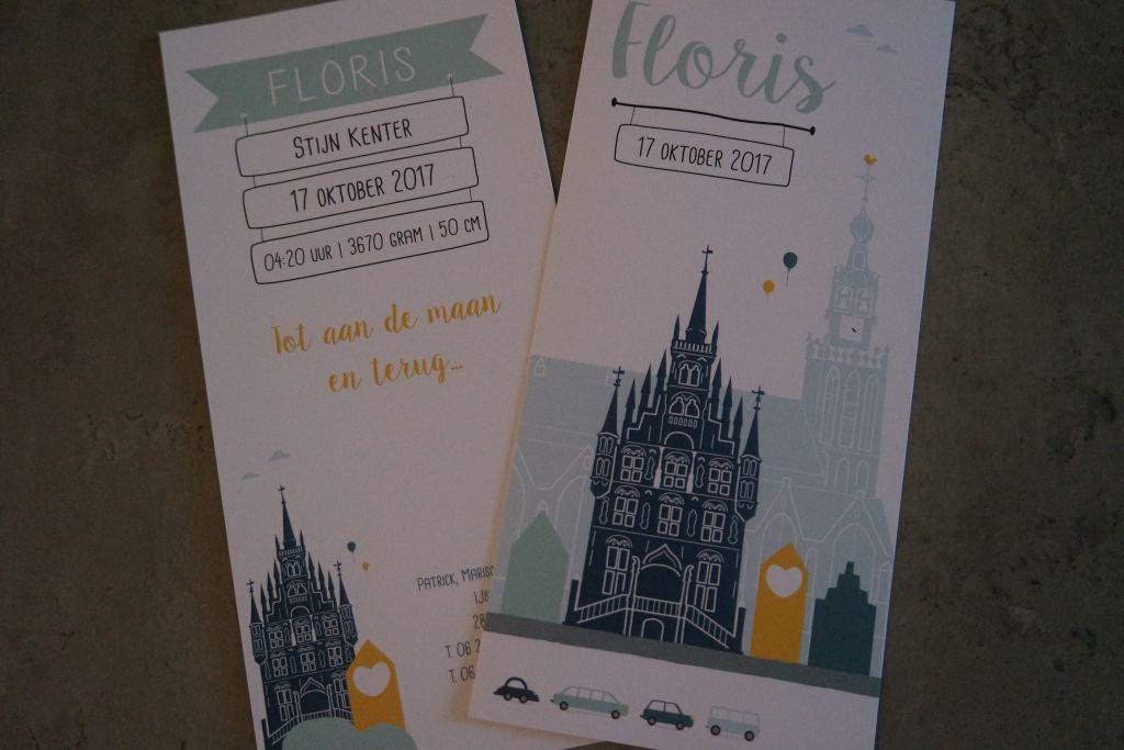 Het geboortekaartje van Floris!