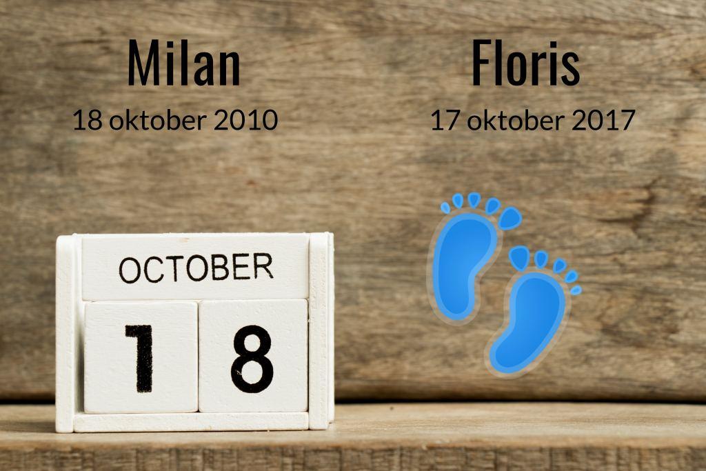De bijzondere geboortedata van Milan en Floris!