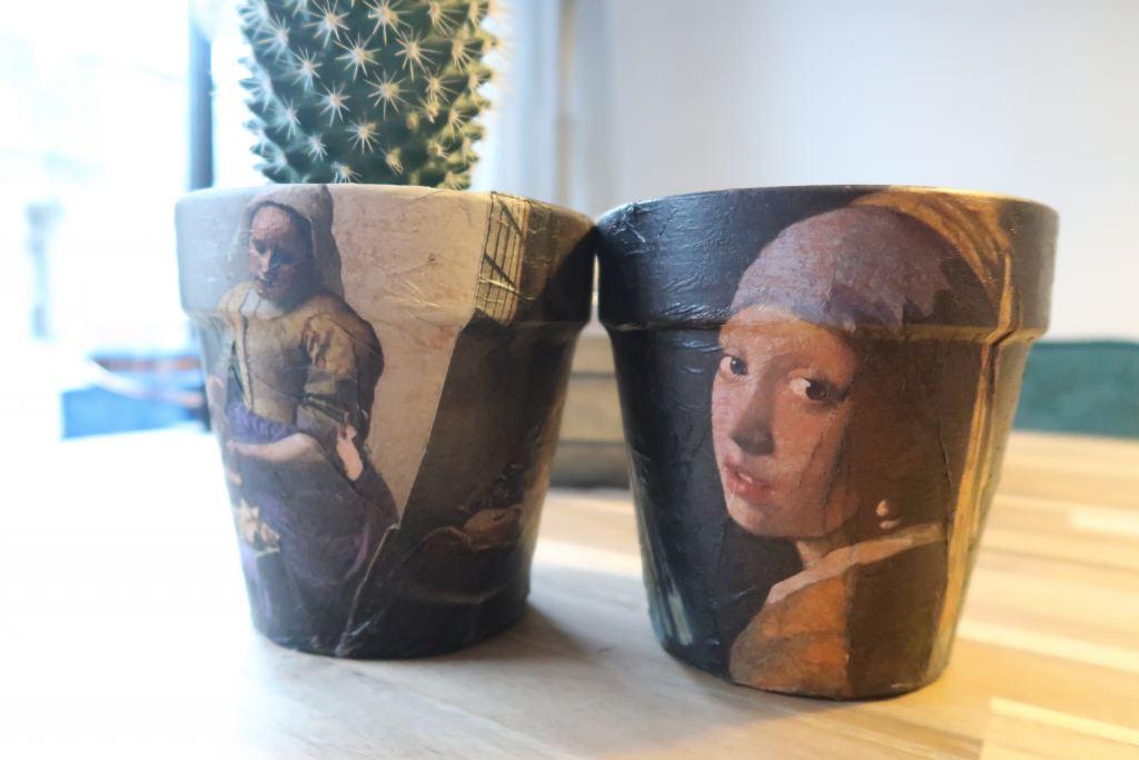 DIY_Mamablogger_potjes_meisje met de parel_melkmeisje_vermeer_servetten_interieur_Marisca_
