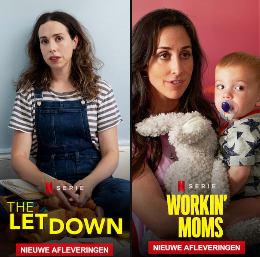 Workings Moms vs. The Letdown op Netflix. De nieuwe seizoenen staan online