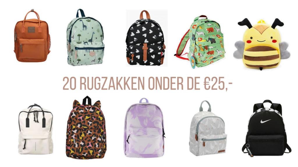 Back to School | 20 rugzakken onder de €25,-