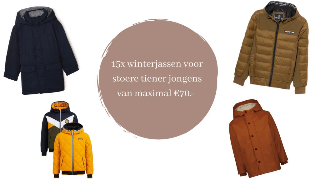 15 x jongens winterjassen voor maximaal €70, grotere maten